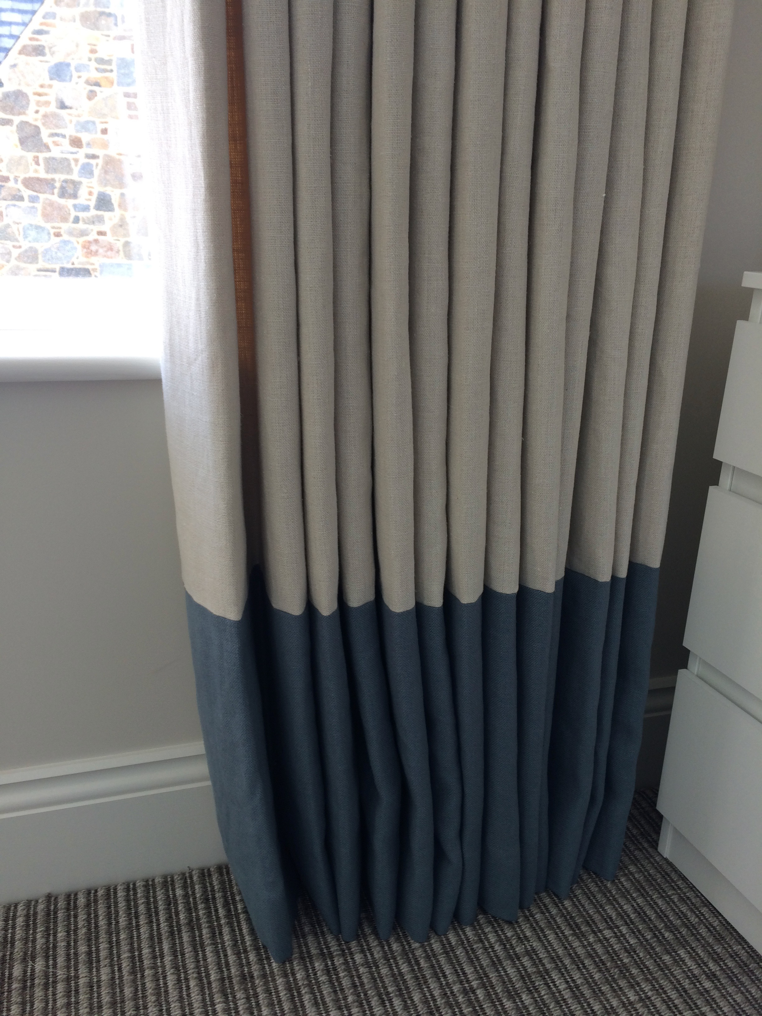 Linen Curtains With Contrasting Borders Latest News
